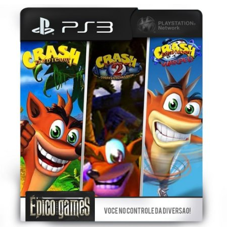 Crash Bandicoot 1, 2 e 3 - Trilogia - PS3 - Midia Digital