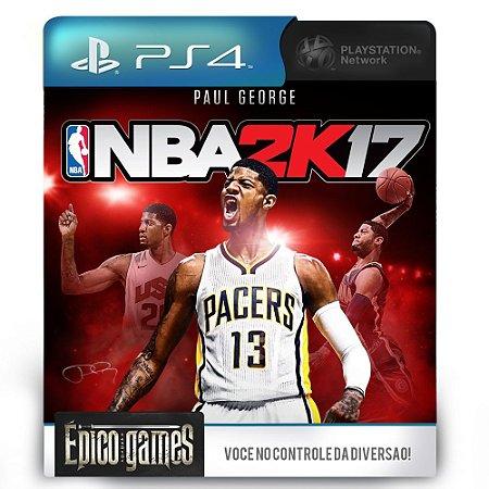 NBA 2K17 - PS4 - Mídia Digital