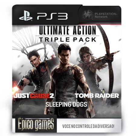 JUST CAUSE 2 +  SLEEPING DOGS + TOMB RAIDER - PS3 - Midia Digital