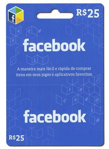 Cartão Facebook R$25