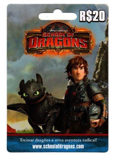Cartão Escola de Dragões R$ 20