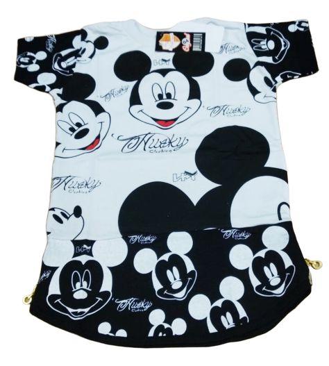 Camisa Camiseta Longline Mickey Masculina