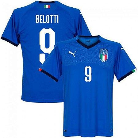 f1d00d5b9bbef Camisa Puma Seleção da Itália Home 2018 2019- Belotti Nº9 - Amo Futebol
