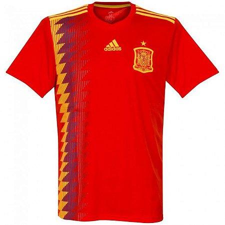 Camisa Adidas Seleção da Espanha Home 2018 2019-S Nº - Amo Futebol a919c36227f57