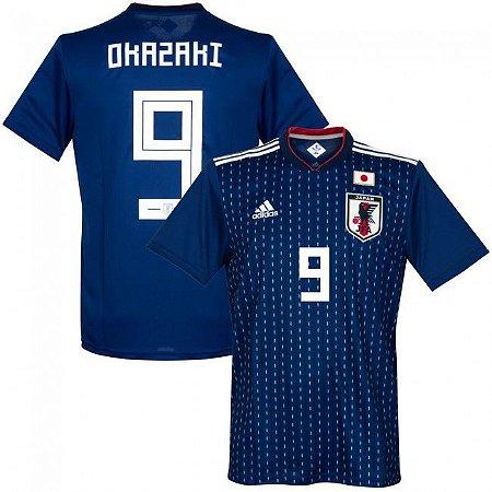9c770bbdfe Camisa Adidas Seleção do Japão Home 2018 2019-Okazaki Nº9 - Amo Futebol