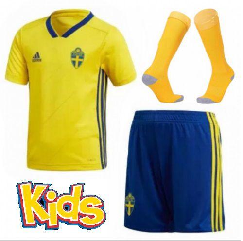 Kit Infantil Seleção da Suécia 2018 2019-S N - Amo Futebol 551c852c7d172