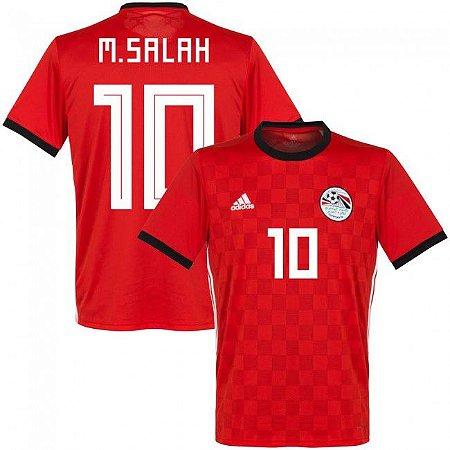 Camisa Adidas Seleção do Egito Home 2018 2019-M. Salah Nº10 - Amo ... cee3633f71a96