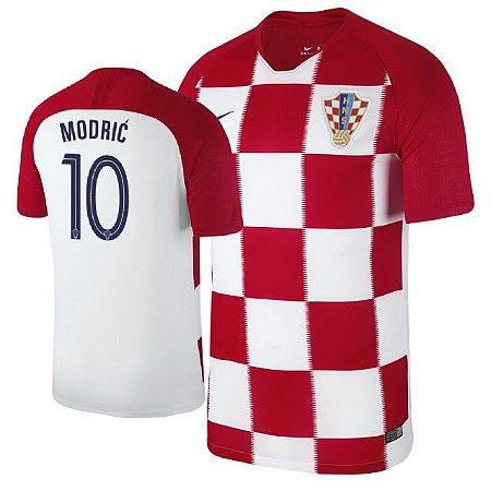 Camisa Seleção da Croacia Home 2018 2019-Modric Nº10 - Amo Futebol 9c3f01b85f274