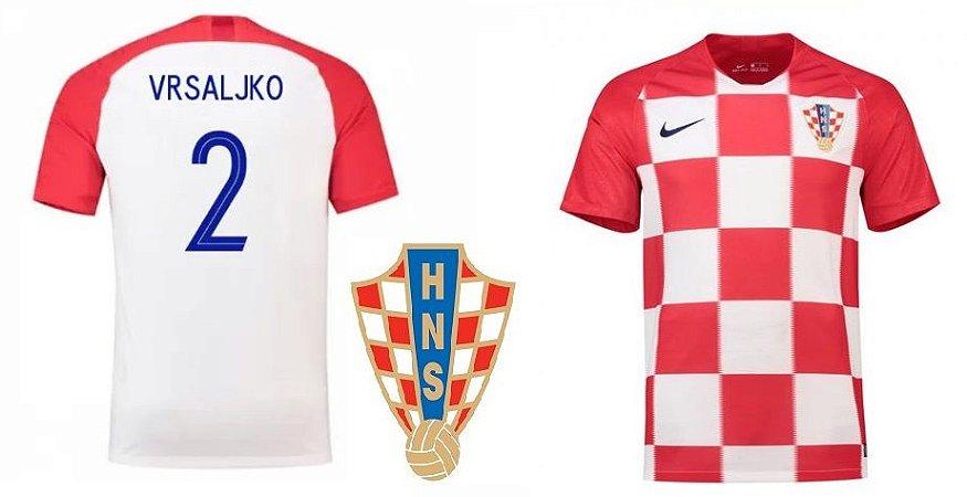 4f43dfa51d7cf Camisa Seleção da Croacia Home 2018 2019-Vrsaljko Nº2 - Amo Futebol