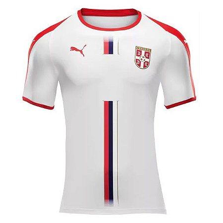 8e1e38222 Camisa Seleção da Servia Away 2018 2019-S Nº - Amo Futebol