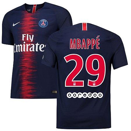 bd1d1d26c Camisa Paris Saint Germain Psg Home 2018 2019-Mbappé Nº29 - Amo Futebol