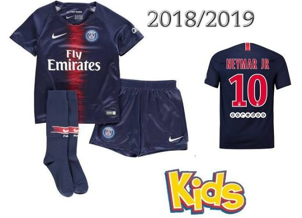 kit Infantil Paris Saint Germain Psg HOME 2018 2019-NEYMAR JR Nº10 ... 81f72372a5d22