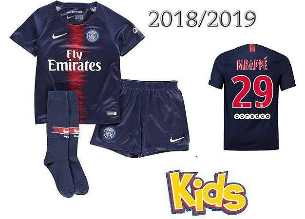 quality design 11ff3 4716e kit Infantil Paris Saint Germain Psg HOME 2018/2019-Mbappé Nº29