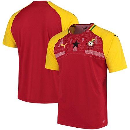 Camisa Seleção de Gana Home 2018 2019-S Nº - Amo Futebol 5c3118f25c6de