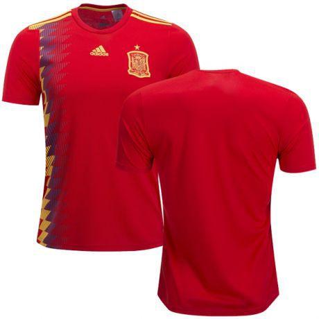 Camisa Seleção da Espanha Home 2018 2019-S Nº - Amo Futebol 0eec5d059d82d