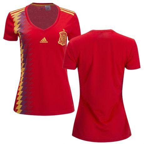 Camisa Feminina Seleção da Espanha 2018 2019-S Nº - Amo Futebol 7bac17bae24d9