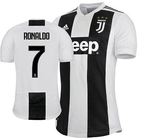 1b081a6ee6c56 Camisa Juventus da Itália Home 2018 2019-Cristiano Ronaldo Nº7 - Amo ...