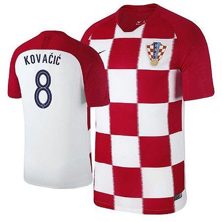 5044f86b3034d Camisa Seleção da Croacia Home 2018 2019-Kovacic Nº8 - Amo Futebol