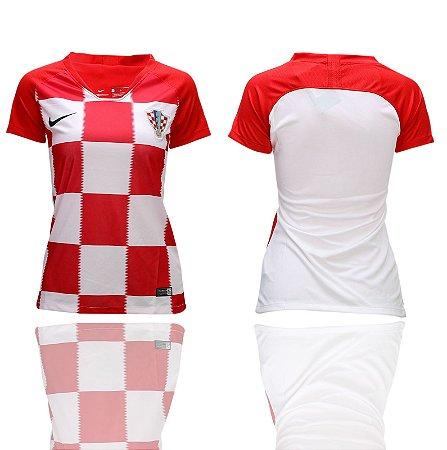 cc0c7b1b5854e Camisa Feminina Seleção da Croacia Home 2018 2019-S N - Amo Futebol