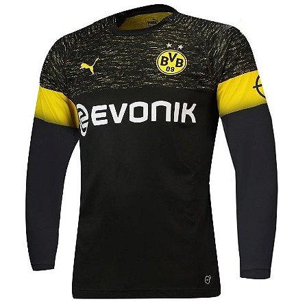 e7d86c30b Camisa Borussia Dortmund Away Manga Longa-2018 2019-S N - Amo Futebol