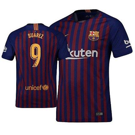 17b6d8f08 Camisa Barcelona Home 2018 2019-Suarez Nº9 - Amo Futebol