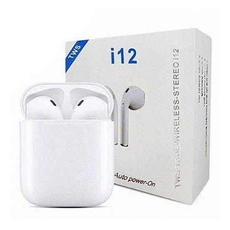 Fone de Ouvido Bluetooth 5.0 i12 TWS