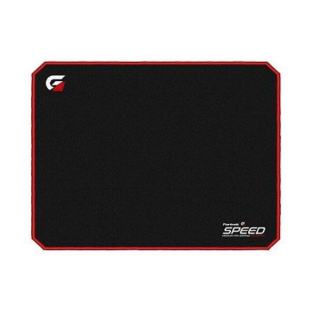 Mousepad Gamer Fortrek Speed MPG101 Médio Preto/Vermelho