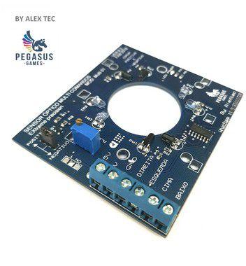 Placa Sensor Óptico conexão Bornes, Fixa os fios por Parafusos