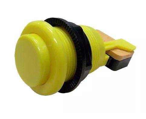 Botão Nylon Amarelo com Micro  mecânica