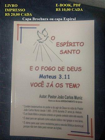 Livro O Espirito Santo e o fogo de Deus capa brochura