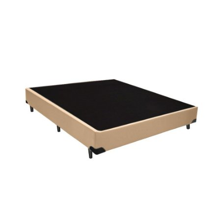 Base Cama Box Casal Sintético Bege - 138x188x39