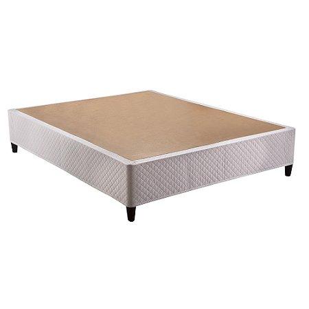 Base Box Casal Herval Click Box Desmontável Corino Branco 39x138x188