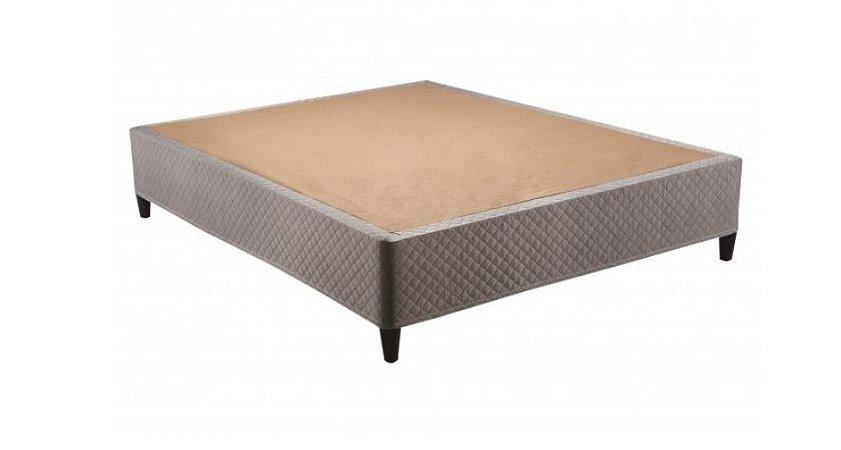 Base Box Casal Herval Click Box Desmontável Corino Tabaco 38x138x188