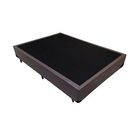 Base Cama Box Viúva Corino Marrom - 128x188x39