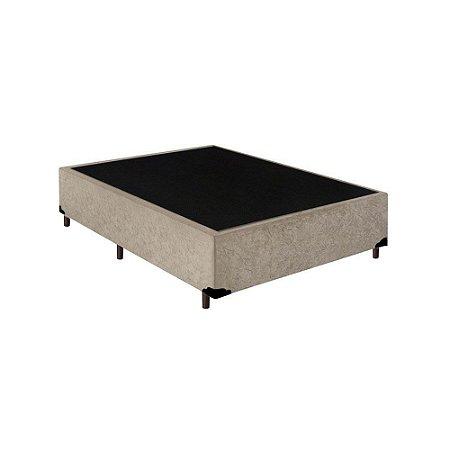 Base Cama Box Viúva Suede Bege - 128x188x39