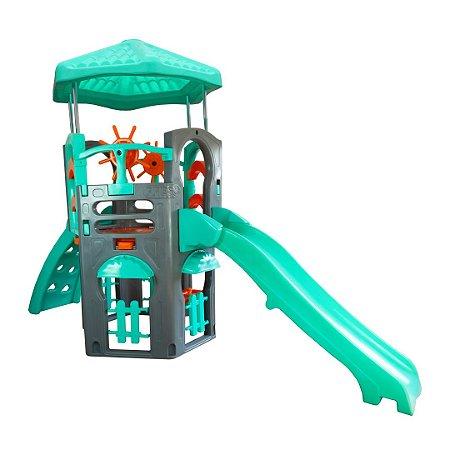 Playground Blue Spring Freso com Escorregador Infantil