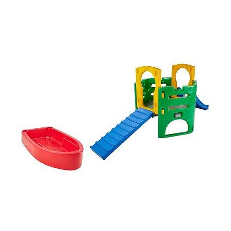 Kit Diversão Pet Playground e Piscina para Cachorro