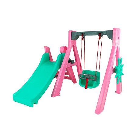 Playground Baby SereiaPlay Freso com Gangorra e Escorregador Infantil