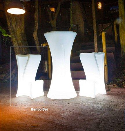 Banqueta Alta Decorativa Bistrô Iluminada de Plástico Freso