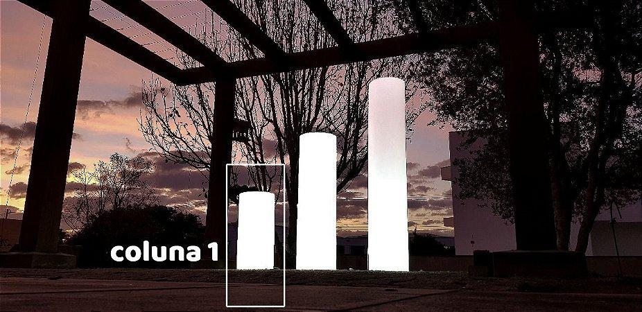 Coluna Decorativa Iluminada de Plástico Tamanho P Freso