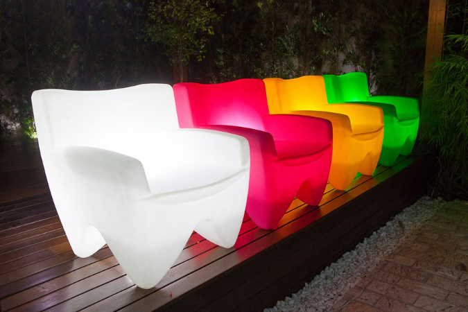 Poltrona Decorativa Cadeira de Plástico Joker Freso