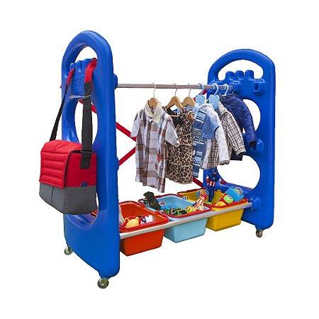 Organizador de Brinquedos Infantil com Cestos e Cabide Freso