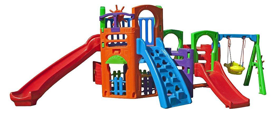 Playground Multiplay House com Kit Fly Freso