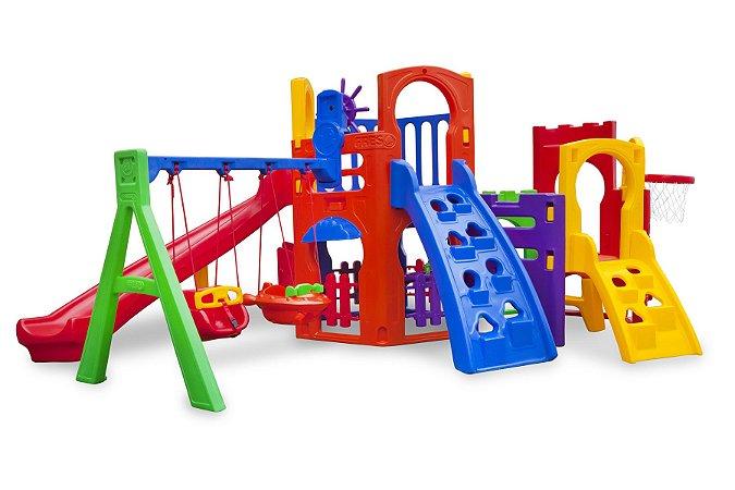 Playground Multiplay Petit Play House e Kit Fly Duplo Freso