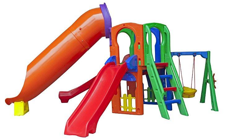 Playground Premium Top Freso com Tubo Escorregador Infantil