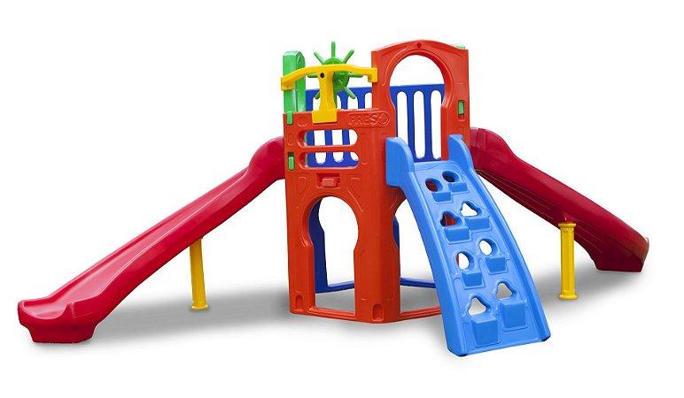 Playground Royal Play B com 2 Escorregadores Freso
