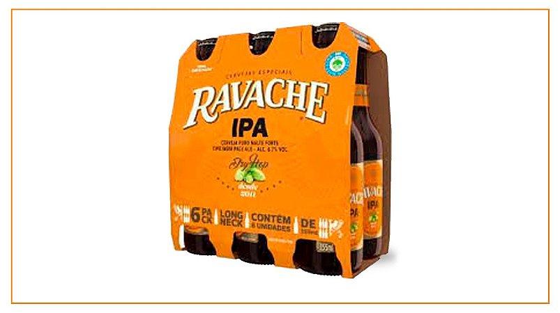 Pack c/ 6 Long Neck Ravache IPA 330ml