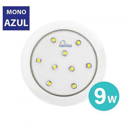 Luz de LED azul 9W 12V 80MM NAUTILUS