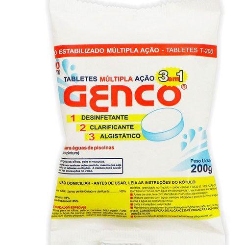 Pastilha Multipla Ação 3 em 1 200g Genco