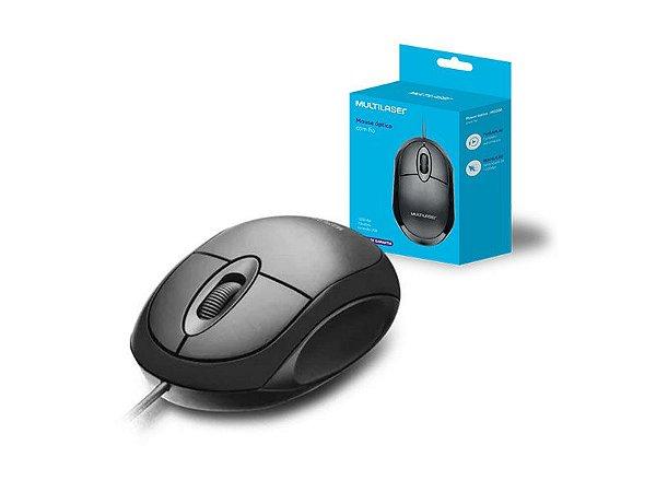 MOUSE COM FIO MOUSE MO300 CLASSIC BOX OPTICO 1200 DPI USB